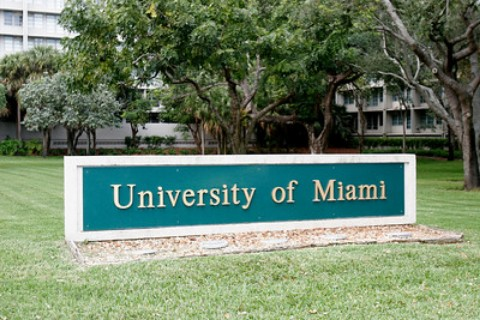 university of miami entrance sign