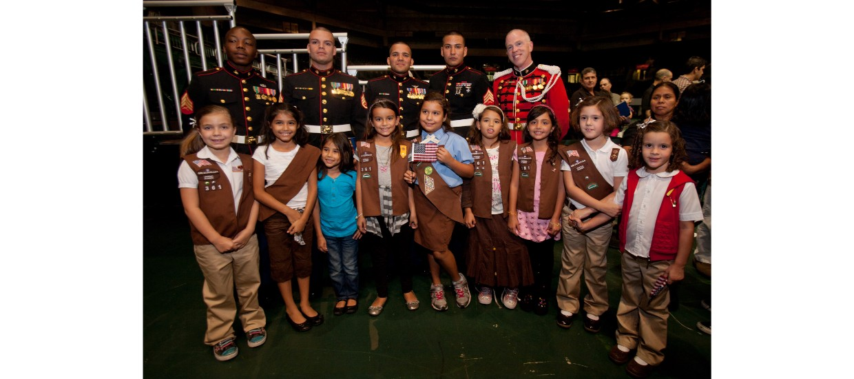 veterans and girl scouts