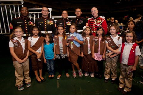 veterans and girlscouts